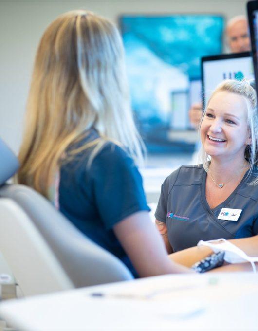 Hentscher Johnson Orthodontics Columbia Illinois Staff Candids 29 530x680 - Contact Hentscher-Johnson Orthodontics in Illinois